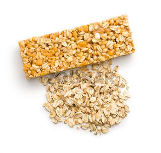 muesli bar and oat flakes