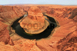 Horseshoe bend seen from overlook, Arizona, USA
