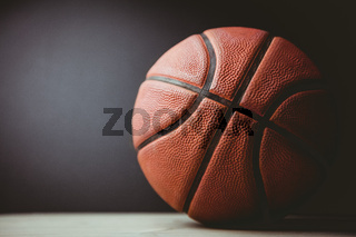 Close up of basketball