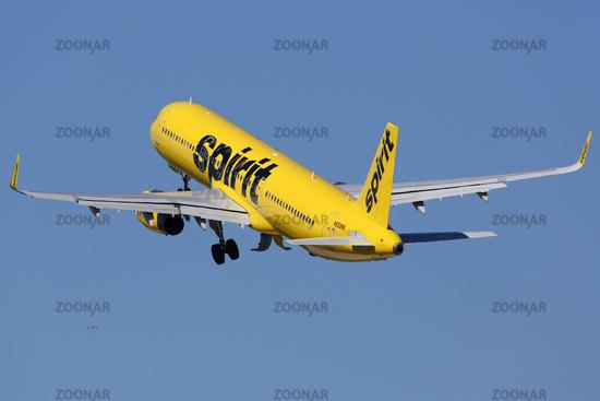 Spirit Airlines Airbus A321 Flugzeug Flughafen Fort Lauderdale
