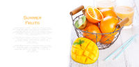 Fresh juicy summer fruits