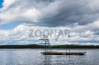 Badestelle an der schwedischen Küste