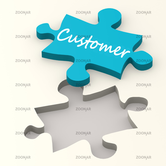 Customer blue puzzle