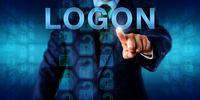 Business Client Pressing LOGON