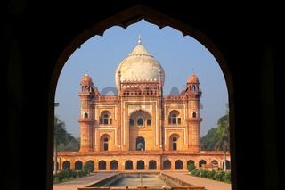 Tomb of Safdarjung seen from main gateway, New Delhi, India
