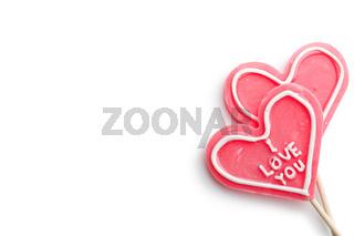 hearts shaped lollipop