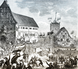 The second Wartburg festival, 1848, Wartburg Castle, Germany