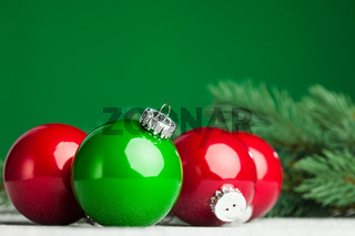 Christmas ball with green fir-tree