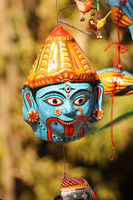 Beautiful mask of goddess kali, prayer concept