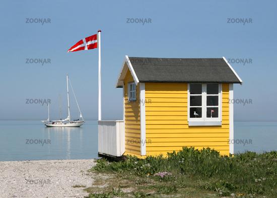 Strandhütte am Strand von Ærøskøbing