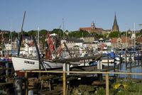 Fischerboot am Hafen in Flensburg
