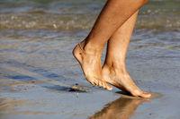 Füße am Strand