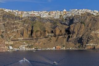 Thera The Capital Of Santorini Greece