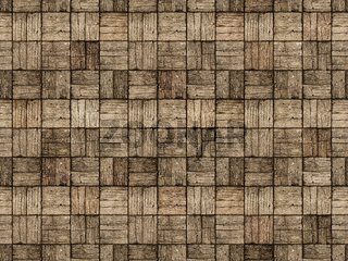 Wooden Patio in Parquet Style with Alternating Woodgrain