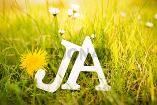 Ja - Wort - Buschstaben