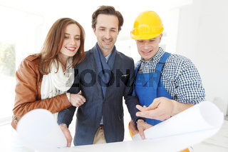 foreman and a young couple