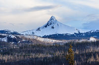 Mount Hood in Oregon covered with snow USA