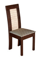 Brown textile modern chair isolated