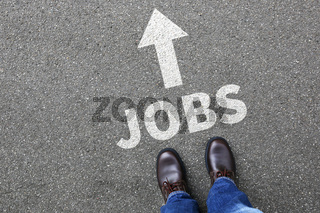 Jobs Job Arbeit Arbeitsstelle Jobsuche Businessman Business man Konzept