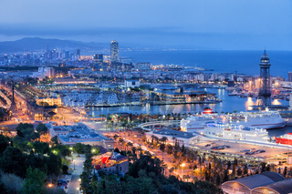 Barcelona Cityscape at Night