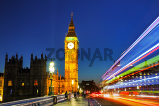 Clock tower in London