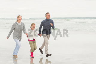 Family casually walking together