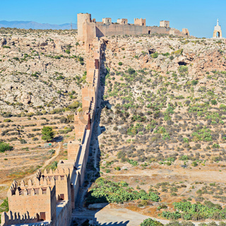 Moorish Castle, Almeria, Andalusia, Spain