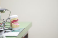 Dentures being created