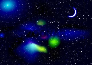 Space travel landscape