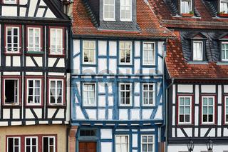 Häuserfront am Obermarkt Gelnhausen, Hessen, Deutschland