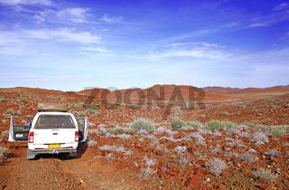 Fahrt durch die Weite Namibias, Landschaft Palmwag, driving through the Palmwag concession