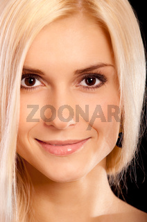Portrait of charming fair-haired girl