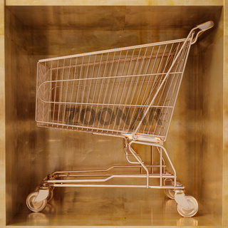 Golden shopping cart