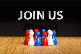 Concept for join us