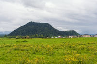 Rural view of village in Oregon USA