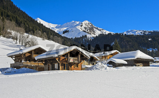 Winterliches Vallée de la Manche, Morzine, France
