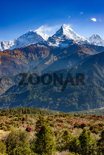 The Annapurna South in Nepal