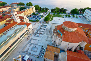 Zadar Forum square ancient architecture aerial view