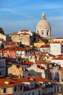 City of Lisbon in Portugal at Sunset