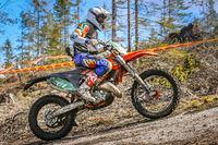 Rider on his enduro motorbike