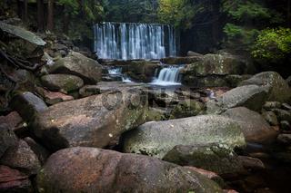 Waterfall in Karkonosze National Park in Poland
