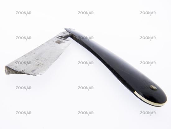 Altes Friseurwerkzeug - Rasiermesser