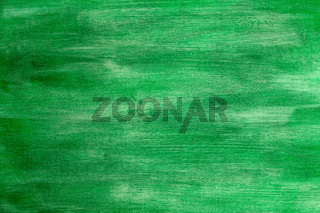 Green painted artistic canvas