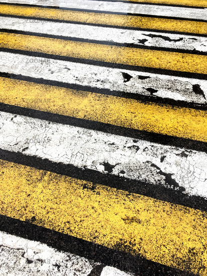 wet road with zebra crossing background