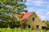Traditionelles Holzhaus in Schweden