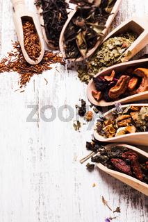 Various of tea