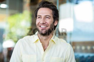 Smiling attractive man