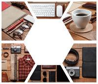 Collage of men#39;s accessories