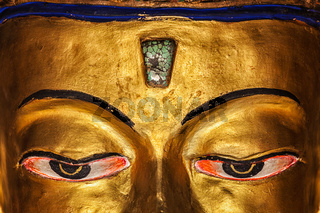 Eyes of Maitreya Buddha  close up