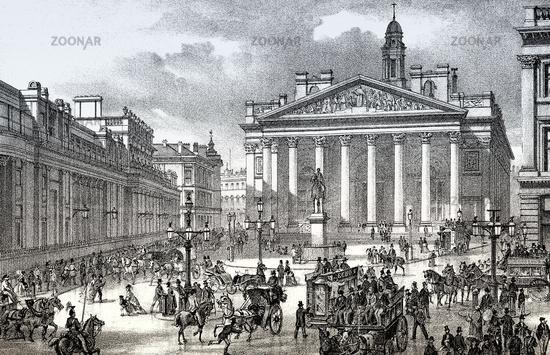 The Royal Exchange and the Bank of England, London